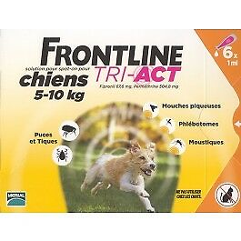 Frontline Tri Act spot on chiens 5 - 10 kg 6 pipettes