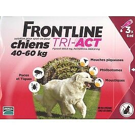 Frontline Tri Act spot on chiens 40 - 60 kg 3 pipettes