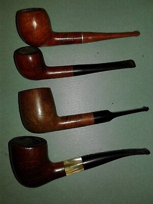 Lot of 4 Vintage Tobacco Estate Pipes, Very Nice Lot