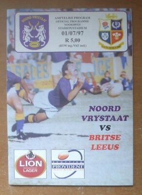 1997 - Northern Free State v British Lions, Touring Match Programme.