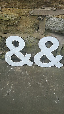 Vintage Retro Reclaimed Salvage Shop Letters Pub Sign Industrial Ampersand And &