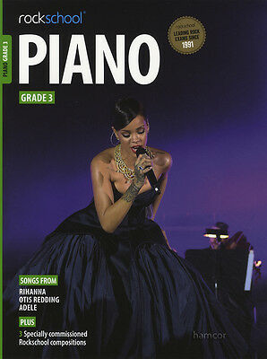 Rockschool Piano Grade 3 Exam Sheet Music Book/Audio Rihanna Otis Redding Adele