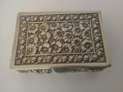 Silver Trinket Box 925 with Early  Import Mark .