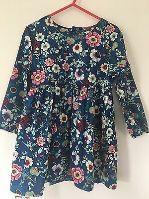 Girls Blue Floral Dress Age 2-3 Years Next Day Post