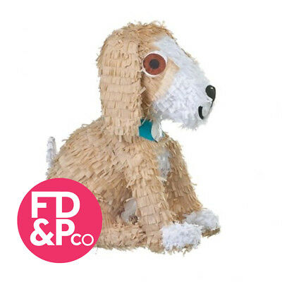 35.5cm x 49.9cm Puppy Dog Shaped Bash Pinata Birthday Party Game Decoration