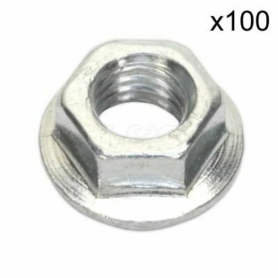 Serrated Flange Nut Size: M8 (ZP) - Pack of 100