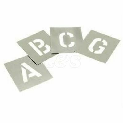 Plain Stencil 25mm Letter Size A to Z (In metal)