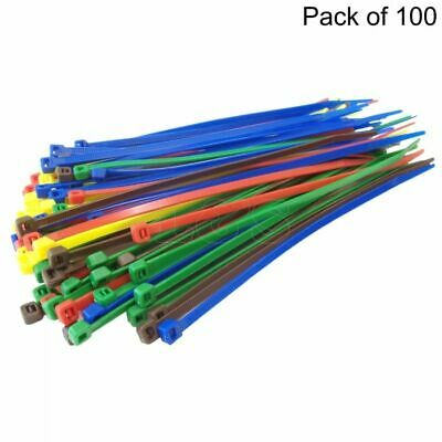 High Quality Cable Ties, Blue, 4.8x200mm, Pack of 100