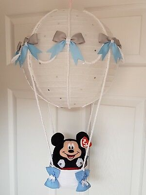 Hot air balloon light shade Mickey mouse looks stunning nursery xx