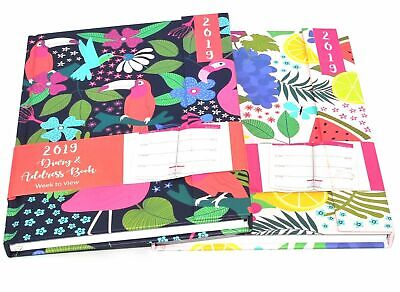 A6 2018  Week to view Page Calendar Appointment Diary Hardback Cover Multi