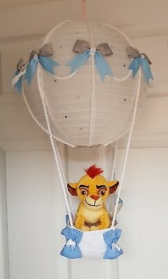 Hot air balloon light shade with so lion king teddy looks stunning nursery baby