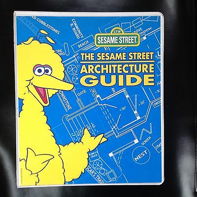 Muppets SESAME STREET artist's ARCHITECTURE GUIDE puppet character vintage