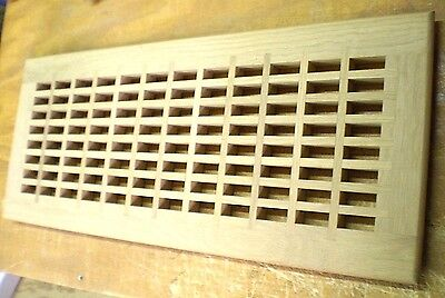"""White Oak Wood Cold Air Return Register Vent Cover For a 26"""" L x 10"""" W  Opening"""
