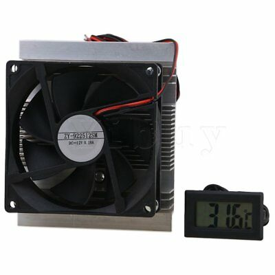 DC12V Thermoelectric Peltier Cooling Cooler Fan System with Thermometer