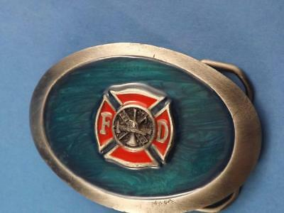 Fire Department Vintage Belt Buckle  Made In Usa Serial Number Fireman Collector