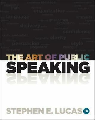 The Art of Public Speaking by Stephen Lucas (2011, Paperback, Older Edition)