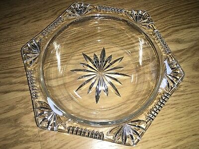 Hexagonal Glass Bowl