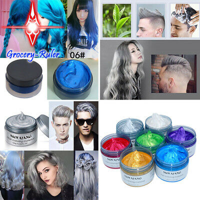7 Colors Fashion Unisex DIY Hair Color Wax Mud Dye Cream Temporary Modeling