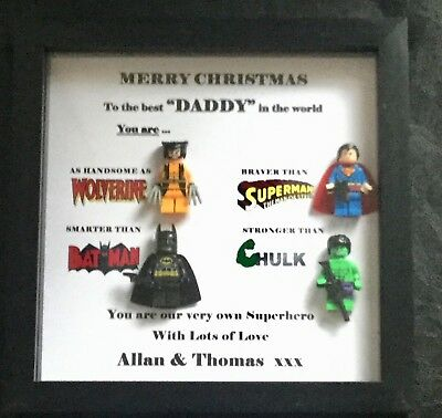 Fathers Day Superhero Personalised Christmas Birthday Gift Dad Grandad Etc