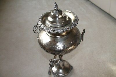 Antique  Silver plate Samovar hot water/ tea urn. Date and provenance unknown