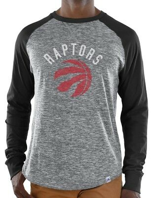 "Toronto Raptors Majestic NBA ""Exposure"" Men's Long Sleeve Gray Slub Shirt"