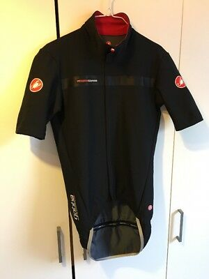 Castelli Gabba 2 Short Sleeve Road Bike Cycling Cycle Jacket - Black - Small