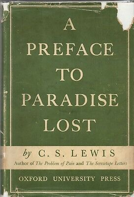 C.S. LEWIS A PREFACE TO PARADISE LOST 1942 1st printing with dust jacket RARE