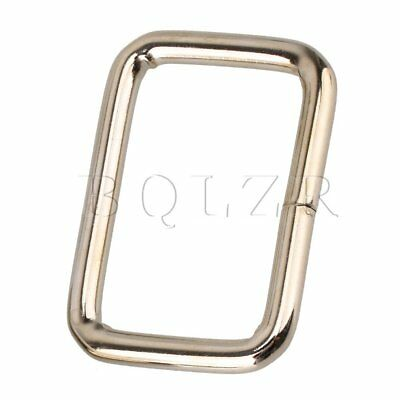 20pcs Nice Square Backpack Luggage Metal Belts Buckle Loop Ring 3.2cm Dia