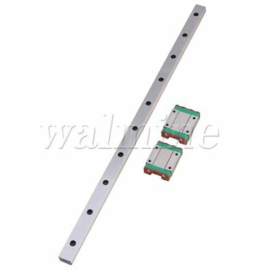 MGN15 Linear Rail Guide Slide 400mm Length With 2 Linear Extension Block