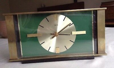 Vintage Smiths Brass Mantel Clock 1960s / 1970s - Battery Powered