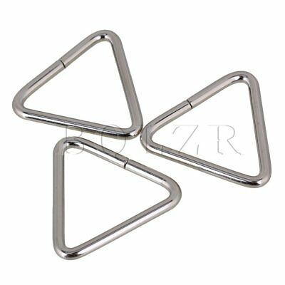 20pcs Triangle Loop Buckle and  Metal Silver Triangle Ring for Bags 3.8cm
