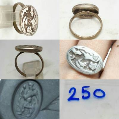 Snake Catcher Rare Stunning Silver Old Beautiful Ring #250