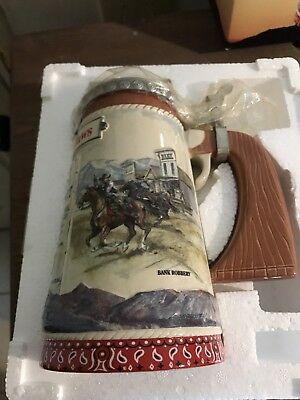 Budweiser CS522 Stein Famous Outlaws Series Butch Cassidy Stein