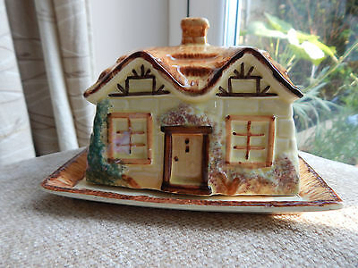 Vintage Butter Dish Ceramic - Paramount Pottery Cottage Ware Made in England