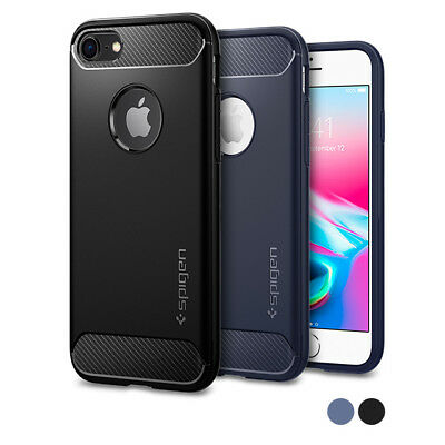 For Apple iPhone 8  7 I Spigen® [Rugged Armor] Shockproof Slim TPU Cover Case