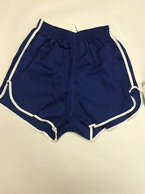 Vintage 60s 100 % Cotton Gym Shorts Made In The USA Size Small Navy