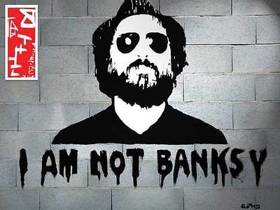 "Ermo Artiste Graphique Street Art "" I'm Not Banksy""   Toile Contemporaine"