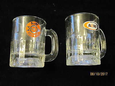 Collectible Child's A & W Root Beer Glass Mugs