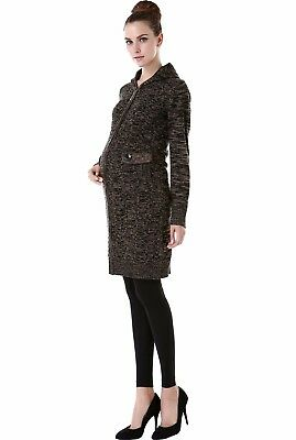 "Momo Maternity ""Grace"" Hooded Sweater Coat, NWT, Size S"