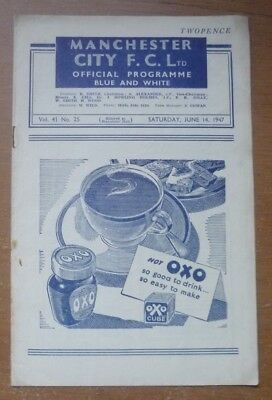 Manchester City v Newport County, 1946/47 - Division Two Match Programme.