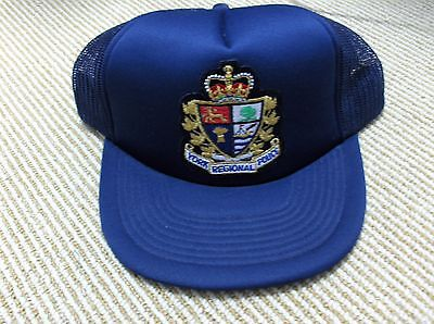 VINTAGE York Regional Police Hat Ball Cap Snap Mesh Back