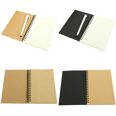 Reeves Hard Back Spiral Bound Coil Sketch Book Blank Paper Sketching Paper Fein