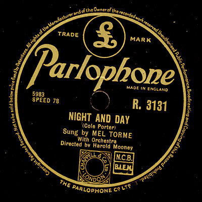 MEL TOME  Night and Day (Klassiker, moderne Fassung mit Scat-Song) 78rpm  SS8314
