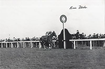 Brian Fletcher winning the 1968 Grand National on Red Alligator Signed Photo.