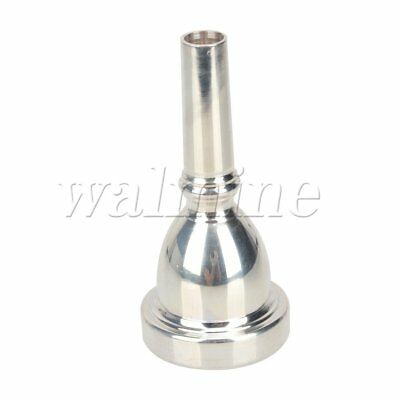 Professional Silver Plated Large Tuba Horn Mouthpiece Musical Instrument
