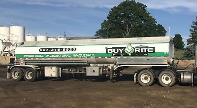 "Fruehauf Fuel Trailer with New pump and 3"" pump off meter and 1.5"" hose/Gun"