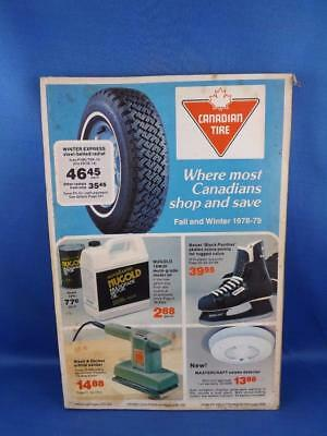 Canadian Tire Catalog Fall & Winter 1978 - 79 Skates Smoke Detectors Knifes Tool