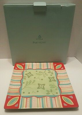 Partylite Holder Outdoor Cafe Candle Tray New