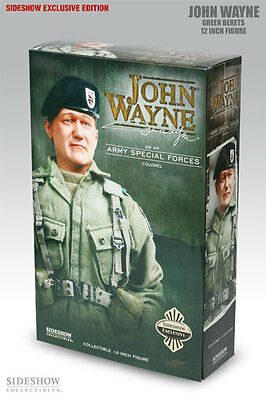 Sideshow John Wayne Exclusive Green Berets Figure Statue Bust Army Colonel Rare