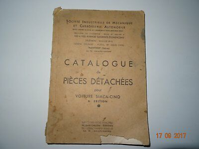 Simca 5 Catalogue De Pieces Detachees